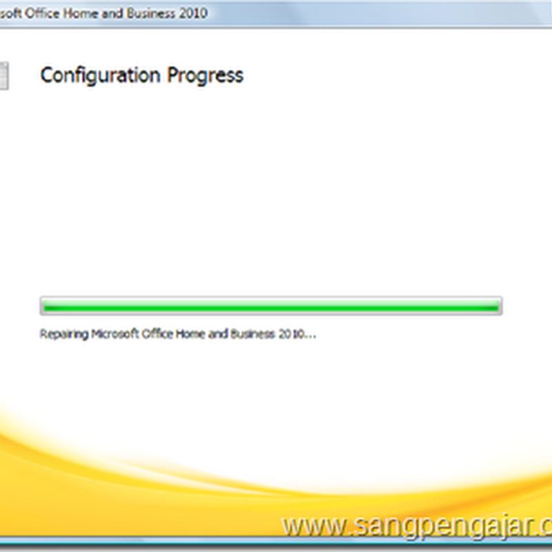 Inilah Cara Menghilangkan Configuration Progress pada Microsoft Office