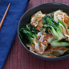 Chicken Potstickers with Baby Tatsoi