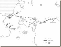 Carte de la campagne de Russie - 1812