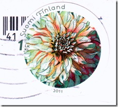 Flower on Finnish stamps