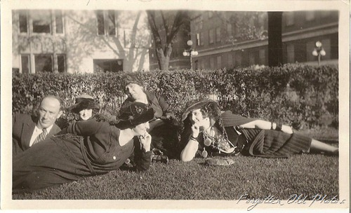 Lounging on the grass DL Antiques