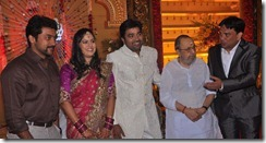 Suriya, Vaali at Mirchi Shiva Wedding Reception Stills