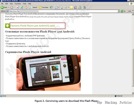 fake flash player for android