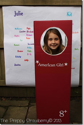Life Size American Girl Box {The Preppy Strawberry}