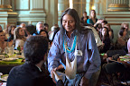 Honored speaker Roberto 'Berito' Cobaria greets a guest.