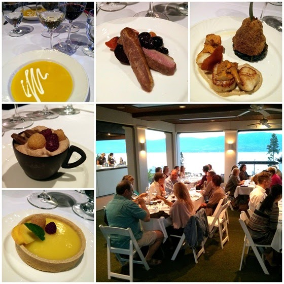 CedarCreek Pavilion dinner from Vineyard Terrace Restaurant Chef Jeremy Tucker