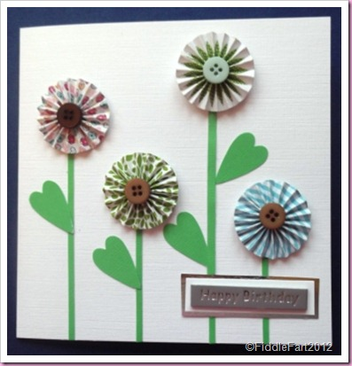 Concertina Flower Card