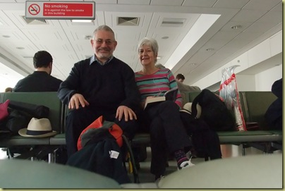 Travellers at Heathrow