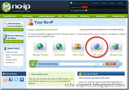 add host no-ip