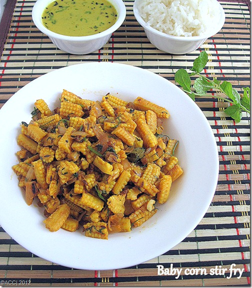 Baby corn stir fry two versions baby corn recipes chitras baby corn stir fry two versions baby corn recipes chitras food book forumfinder Images