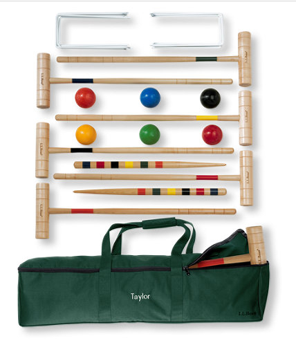 Bean's croquet set is the perfect lawn game for all ages.