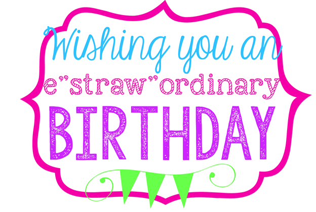 Wishing You an Estrawordinary Birthday printable at GingerSnapCrafts.com