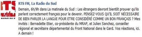 RTS debat sul francés