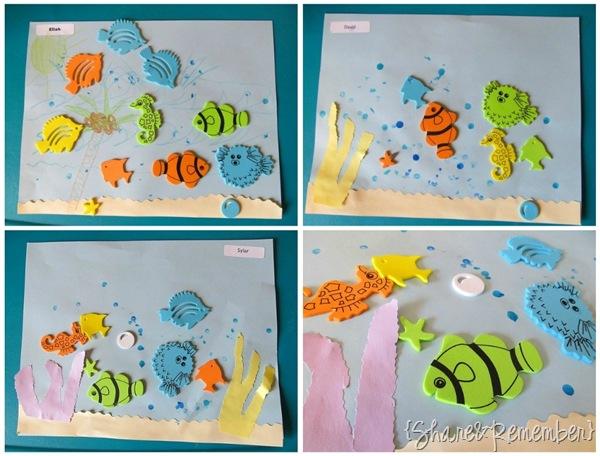 Ocean Scenes with Foamie Stickers