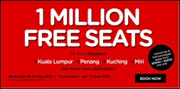 Singapore AirAsia 1 Million FREE Seats 2014 Flight Promotion