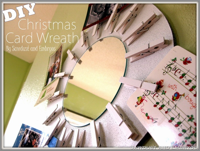 DIY Christmas Card Wreath (Starburst Mirror!) - Copy
