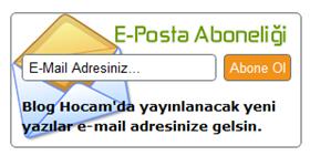 E-Posta Abonelik Formu
