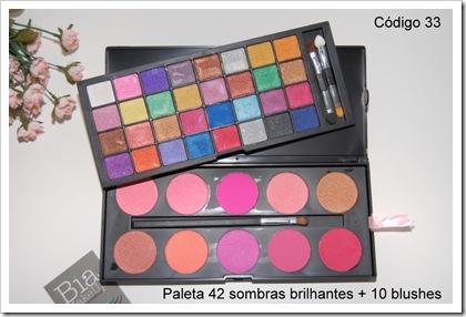33_ Paleta 42 sombras shimmer   10 blushes - codigo 33
