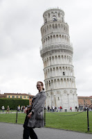 Leaning on the leaning tower