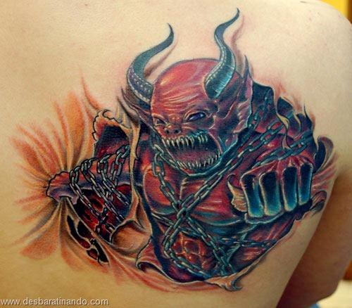 tatuagens ilusoes de otica optica ilusion tatoo desbaratinando  (10)