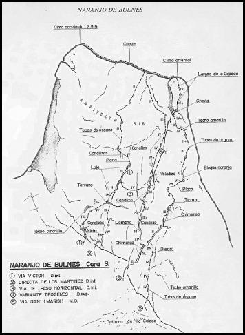 Naranjo de Bulnes - Sur - Croquis