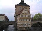Το παλιό δημαρχείο στην πόλη Bamberg της Γερμανίας
