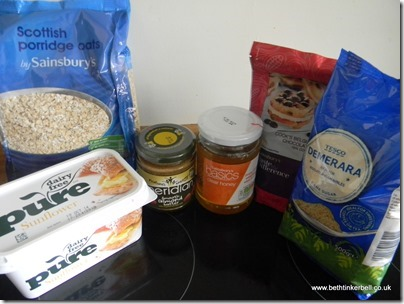 Gluten Free and  Dairy Free Flapjack Ingredients