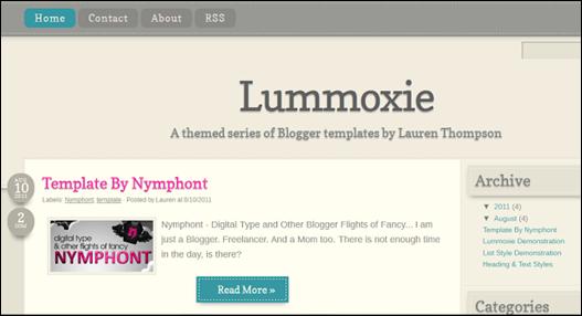 lummoxie blogger template