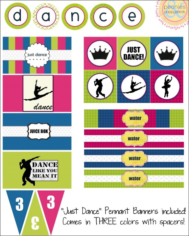 just dance party printable copy