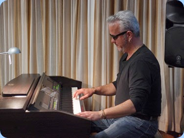 "Our guest artist, Deryn Trainer, played ""Hello"" on the Club's Yamaha CVP-509 Clavinova. Photo courtesy of Dennis Lyons"