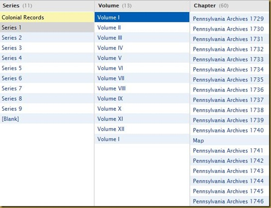 Pennsylvania Archives, Colonial Records, Series 1, Volume 1-2