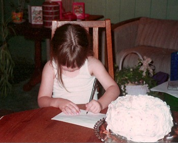 Chelsea writes her name 1