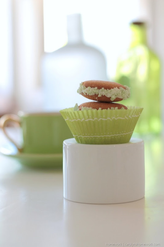 Vanilla Wafer St. Patrick's Day Cookies, Mint Chocolate, Whoopie Pies