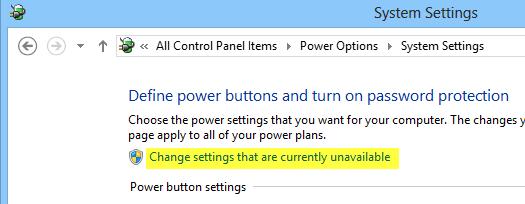 power-setting