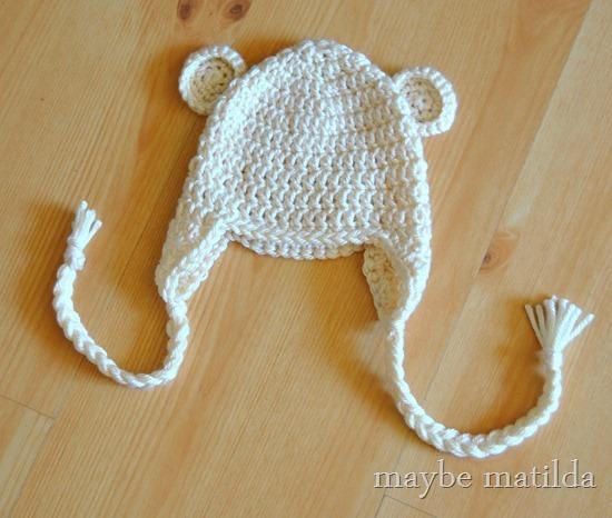 Handmade Crochet Baby Bear Hat