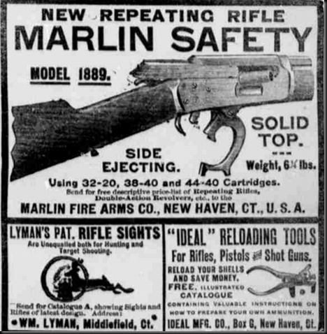 Image result for marlin 1893 rifle advertisement