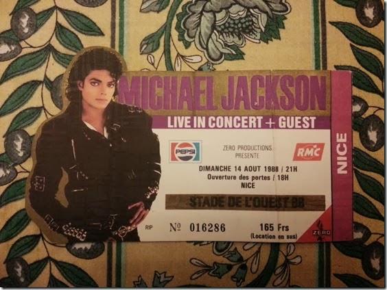 Mickael Jackson, concert Nice 1988