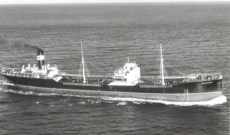 El CAMPECHANO navegando por el canal de la Mancha. Foto Flite. Foto cedida por Juan Carlos Diaz Lorenzo. Nuestro agradecimiento.jpg
