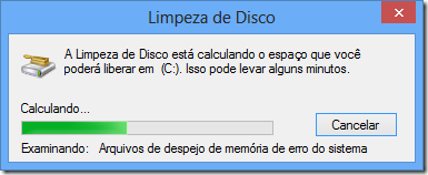 Limpeza de Disco do Windows 8