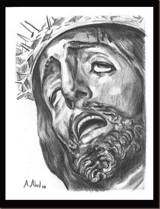 dibujo tapas pregon juventud almuñecar alvaro abril cristo de san agustin granada 2013