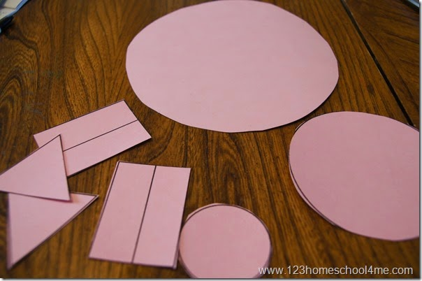 shape pig craft for kids
