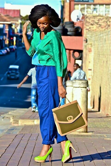 color blocking, the look