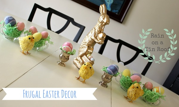 Frugal Easter Tablescape