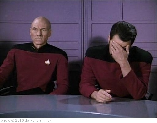 'facepalm-riker' photo (c) 2010, darkuncle - license: http://creativecommons.org/licenses/by/2.0/