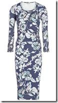 Reiss Floral Print Jersey Dress