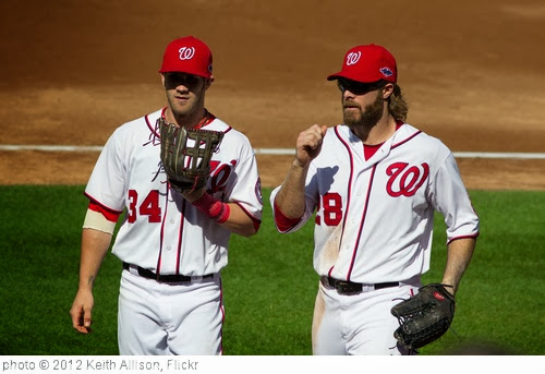 'Bryce Harper, Jayson Werth' photo (c) 2012, Keith Allison - license: http://creativecommons.org/licenses/by-sa/2.0/