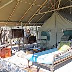 Meno a Kwena Tented Camp, Außenbereich des Zeltes © Foto; Ulrike Pârvu | Outback Africa Erlebnisreisen