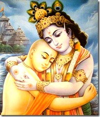 Lord Chaitanya with Lord Krishna
