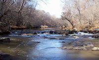 Rapids along Eno River Photo