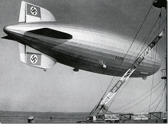 Hindenburg with reworked fin - summer 1936